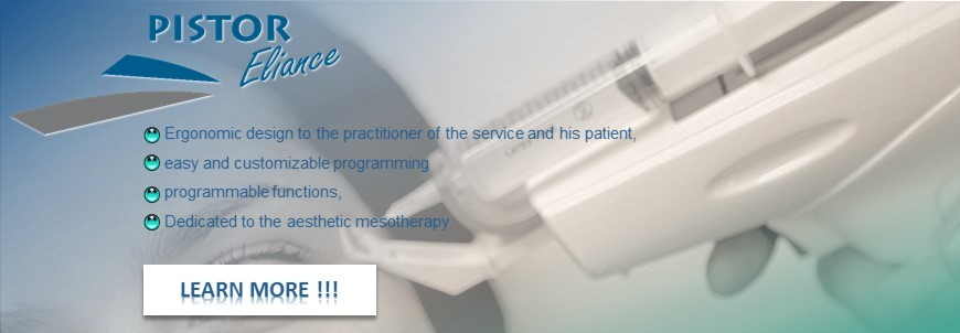 Pistor Eliance Ergonomic design of the service the practitioner and patient, Easy and customizable programming, Programmable functions, Dedicated to the aesthetic mesotherapy